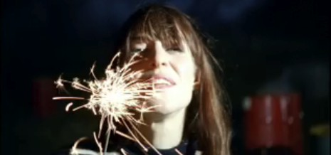 sparklers + cute and talented indie gurl = heaven.